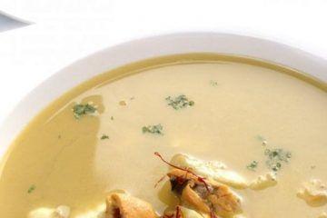 Sopa de Pescado y Mejillones al Azafrán